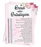 Nalara   Braut oder Bräutigam, das spannende Hochzeits-Quiz über das Brautpaar für Deine Gäste mit Spaßgarantie (50 Stück)