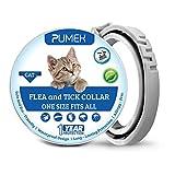RYDOR Collare antipulci per Gatti – 12 Mesi di Protezione Contro Le zecche – Regolabile, Sicuro e Impermeabile – Collare antipulci Naturale e Anallergico