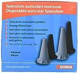 GIMA ref 31487 Auriculares Speculum desechables, Ø 2.5 mm, sin latex, color negro, compatibles con otoscopios profesionales de serie'mini', disponible en 250 unidades