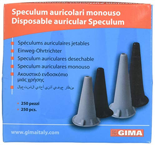 GIMA ref 31487 Auriculares Speculum desechables, Ø 2.5 mm, sin latex, color...