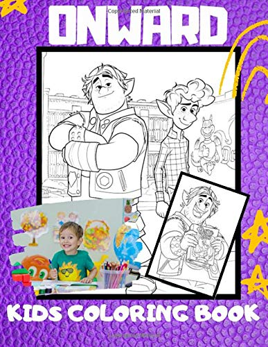 Onward: Coloring Book Great for Kids and Fans 40 Pages - high quality