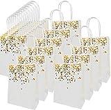20 Piezas Bolsa de papel kraft, Bolsa de Regalo con hermoso diseño dorado, exquisito y duradero