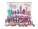 Q-KI - Calendario de Adviento de 24 días con accesorios de belleza, modelo Nueva York, año 2019