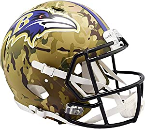 Riddell Baltimore Ravens Camo Alternate Revolution Speed Mini Football Helmet - NFL Authentic Helmets