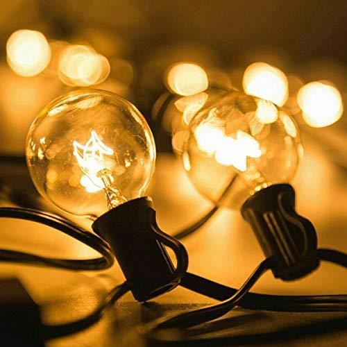 Guirnalda Luces para patio,Guirnalda de luces,25 Bombillas 7.65 Metros Guirnalda de luces,Guirnalda bombillas exterior para Garden Terrace,Luces de patio de Navidad