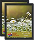 PictureFrameFactoryOutlet 24 by 30-inch Picture Frame 2-Piece Set, Smooth Finish, 1.25 Inch Wide, Black (24x30 Set of Two)