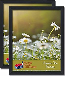 24 By 30-inch Picture Frame 2-piece Set Smooth Finish 1.25 Inch Wide Black Pictureframefactoryoutlet  24x30 Set of Two