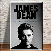 ジェームズディーン映画俳優アートポスター壁アート画像キャンバスポスターとプリントHDプリント油絵壁画リビングルーム家の装飾フレームレス絵画