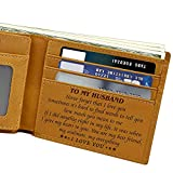 Yuui To My Son from Dad Father Wallet Christmas Birthday Graduation Wedding Xmas Gift Letter Engraved Letter Wallet