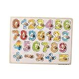 TOYMYTOY Puzzle de Madera Números Puzzle Siluetas Juguete Educativo Aprendizaje Bebé