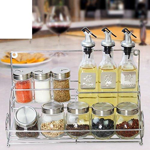 tarro Especias Salsa de soja vinagre aceite de oliva pot set de regalo tazón de fuente del azúcar en el salero de la cocina-A