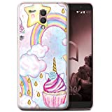 Stuff4 Phone Case for Alcatel 1X 2019 Unicorn Party Cupcake