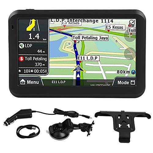 KSTE Navegador GPS Coche, Universal de 5 Pulgadas de Pantalla táctil del Coche navegador GPS de navegación 256MB 8GB w Clip Trasero