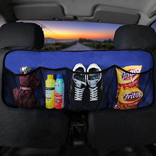 FH Group FH1122BLUE Car Trunk Organizer (Multi-Pocket Storage Collapsible for Easy Carry Perfect for Garage or Grocery Store), 1 Pack