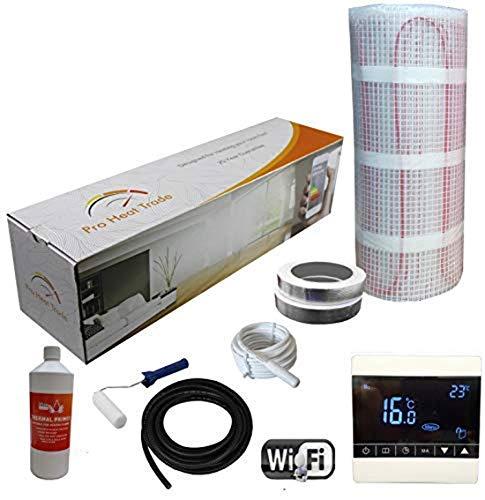 Nassboards Premium Pro Elektrische Verwarmingsset Met Gele Doos, 200 W, Voor m2 - Witte Draadloze Wifi-Thermostaat - 4m2