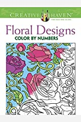 Creative Haven Floral Design Color by Number Coloring Book Paperback