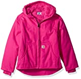 Carhartt Girls' Little Redwood Jacket Sherpa Lined, Pink Peacock, XS (6)