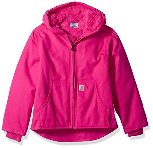 Carhartt Girls' Little Redwood Jacket Sherpa Lined, Pink Peacock, XS (6)