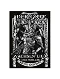 Uglyshirt89 Unser Gott Odin Premium Leinwand | Keilrahmen Bild Gemälde Wandbild Wikinger Walhalla Vikings Asgard Thor (60 x 40 cm)