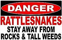 Danger Rattlesnakes 金属板ブリキ看板警告サイン注意サイン表示パネル情報サイン金属安全サイン