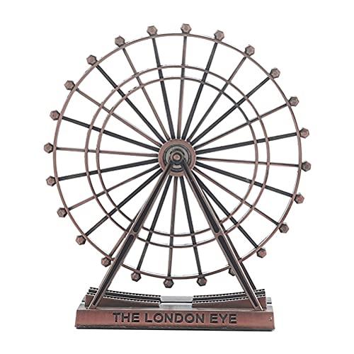 1 pieza de metal de la rueda de la noria de la rueda giratoria de alta calidad ornamento de escritorio agradable para la decoración del hogar, regalo