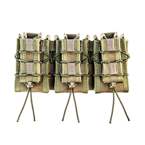 High Speed Gear MOLLE Double Decker TACO Shingle, 3 Rifle/Pistol Mag Pouches - Olive Drab