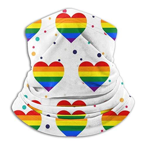Neck Gaiter LGBT Pride Heart Flag Camping Outdoor Balaclava Adult Seamless Printed Sun Protection Face Biking Magic Scarf Neck Gaiter