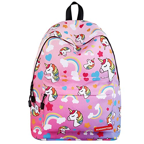 Mochila para niñas Bolso de Escuela,Mochila de Unicornio Mochila -Ideal para Niños de 1 a 6 grado Uso diario del Bolso de Viaje(Rosado)