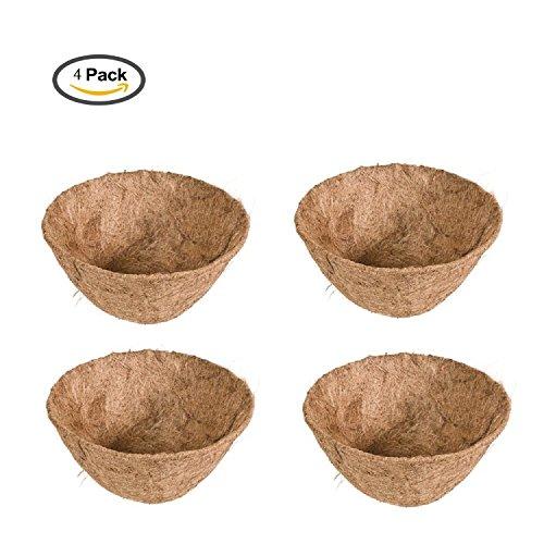 Protection plantes disque de paillage en fibres coco disque protection dhiver pour plantes en pot 25 cm