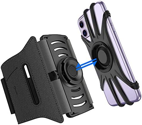 Running Phone Holder VUP IPhone Armband Detachable 360 Rotatable Arm Bands for Cell Phone Fit product image