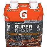 Gatorade Super Shake, Chocolate, 30g Protein, 11.6 Fl oz Carton, Pack of 4