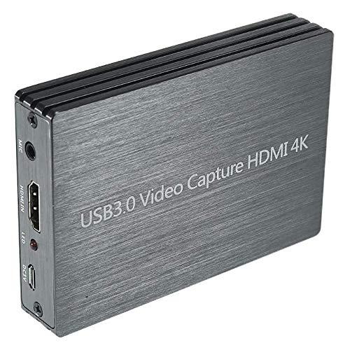 KKTECT HDMI-Recorder 1080p, USB 3.0 HDMI 4K Video Aufnahmegerät mit Mic-In, 60 fps Game Capture Card für PS4-DVD, Plug-N-Play, Unterstützung von Windows IOS, Freigabe auf YouTube Facebook Twitter