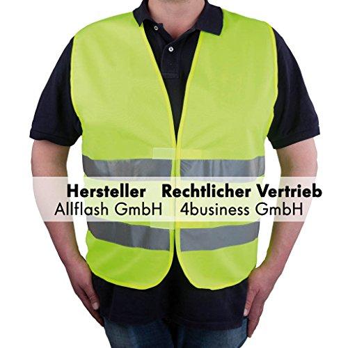 Allflash AL-1240 KFZ-Warnweste Premium Gelb