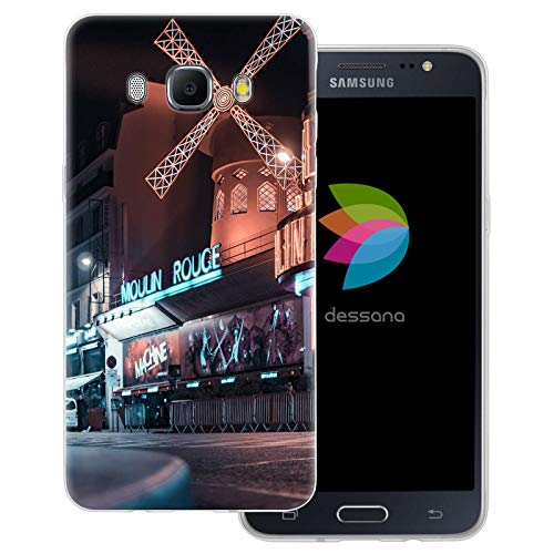 dessana Paris transparante beschermhoes mobiele telefoon case cover tas voor Samsung Galaxy A J, Samsung Galaxy J5 (2016), Moulin Rouge