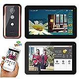 XH&XH 9-Zoll Wired WiFi Bildtelefon Türklingel Intercom Home Security Zugangskontrollsystem