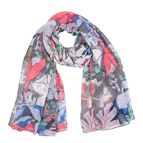 Heetey - Bufanda de mujer de piel de serpiente con impresión de chifón, bufanda, bufanda, bufanda, bufanda, bufanda, bufanda, bufanda, bufanda, bufanda, bufanda, bufanda, bufanda de cuello gris Talla única