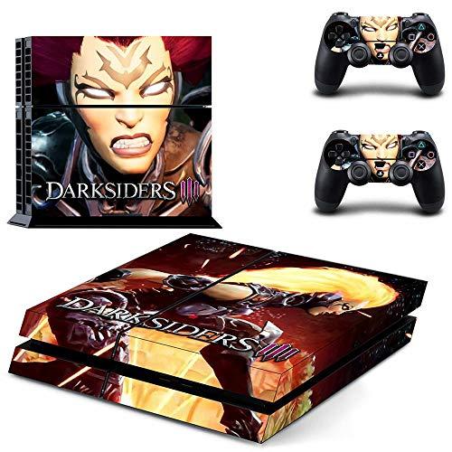 FENGLING Darksiders 3 Ps4 Pegatinas Playstation 4 Piel Ps4 Pegatina Cubierta de calcomanías para Playstation 4 Ps4 Consola y Controlador Pieles Vinilo