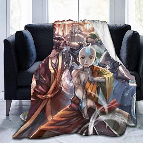 Avatar The Last Airbender 156 x 150 cm para adolescentes, manta súper suave, colcha decorativa para todas las estaciones cálida y acogedora manta para sofá cama, sofá