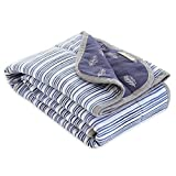 Burt's Bees Baby - Reversible Blanket, Nursery, Stroller & Tummy-Time Organic Jersey Cotton Quilted Infant & Toddler Bedding (Pine Forest)
