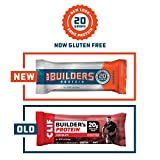 CLIF BUILDERS - Protein Bars - Chocolate - 20g Protein (2.4 Ounce, 12 Count) (Now Gluten Free)