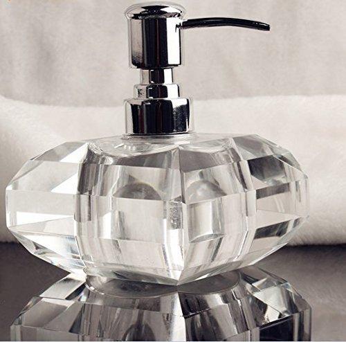 Dusche dispenser,Bad waschmittel flasche,Manueller soap-dispenser,Waschmittel flasche Kristallglas Schreibtisch-ornamente Hotel club Home decoration-A