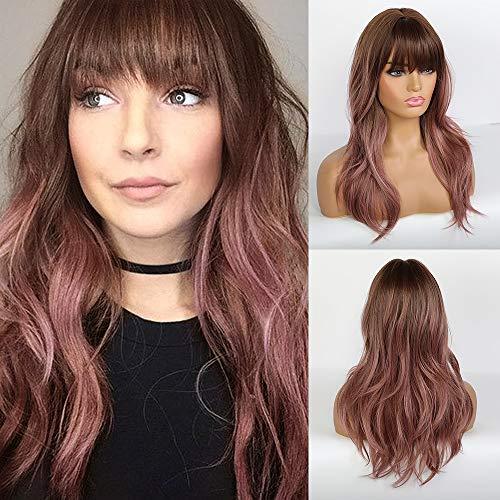 pelucas moradas mujer por internet