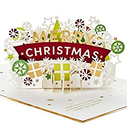 Hallmark Signature Paper Wonder Pop Up Christmas Card (Snowflakes and Presents)