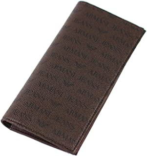 (アルマーニ・ジーンズ) ARMANI JEANS 長財布 938543 CC996 ダークブラウン PVC(ポリ塩化ビニル) [並行輸入品]