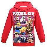 Camiseta Roblox de algodón transpirable para juegos en familia, juegos en equipo para niños y niñas, parte superior de pijama Sudadera con capucha. 11-12 Años