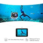 VanTop Moment 3 4K Action Camera w/Gopro Compatible Carrying Case,Remote Control,16MP Sony Sensor,30M Waterproof Camera… 15 【Stunning 4K Technique & Superb Sony Sensor】Optional 4K@30fps, 2.7K@30fps,1080P@60fps,720P@120fps resolutions, high sensitive Sony sensor with improved image focusing, processing speeds. Moment 3 action camera empowers you to capture any memorable moment without any compromise. Stunning 4K video and 16MP photos in Single, Burst and Time Lapse modes. 【Irresistible & Indispensable Accessories】Exclusively customized carrying case for the action camera and accessories: compatible with all Gopro cameras including Gopro HERO 7, Gopro HERO 6. Compact case to keep your action camera-Moment3 and accessories safe, protected and organized. Selected 21 gopro compatible accessories awaits your discovery. (SD Card excluded) 【170°Ultra-Wide Lens & Multiple Modes】Discover a big big world your eyes can reach with the intergraded 170 degrees ultra-wide lens. Burst Shooting, loop recording makes it possible to find the perfect moment afterwards. Time-lapse and slow motion exceed human vision with surprising fun.