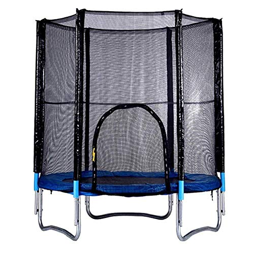 Trampoline voor kinderen, met veiligheidsnet, voor binnen- en huishouden, lente, omheining, buiten, groot hoogslaper voor volwassenen.