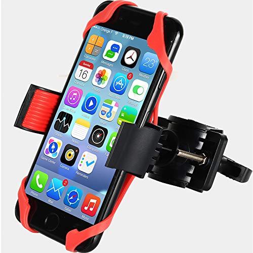 Durable Bike Phone Holder, Motorbike Phone Holder for Bike, HUNTEC Bike Phone Mount - 2 Colour Silicone Secure Bands, Universal...