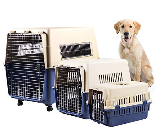 Huisdier Air Box grote middelgrote en kleine verzenddoos op wielen Air Box hond gecontroleerd doos hoogwaardige kunststof huisdier Air Box S