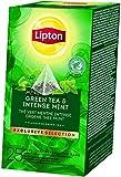 Lipton Exclusive Selection Thé Vert Menthe Intense, Label Rainforest Alliance, 25 Sachets Pyramides